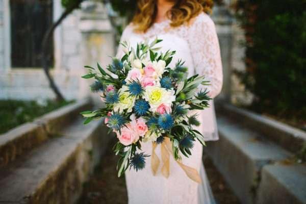 A wedding flower bouquet